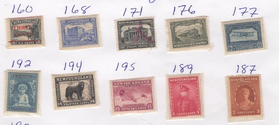 23 Canada New Foundland stamps5c 6c 20c 24c 1/2c - 2