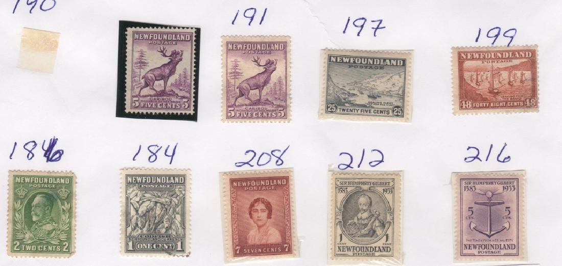 23 Canada New Foundland stamps5c 6c 20c 24c 1/2c - 3