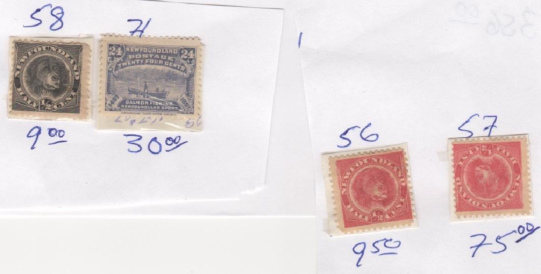 23 Canada New Foundland stamps5c 6c 20c 24c 1/2c - 4