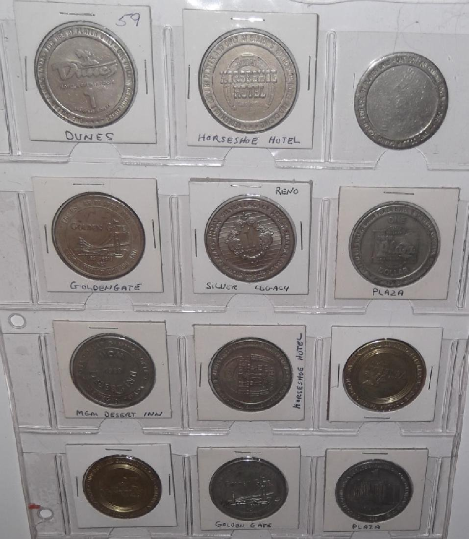 120 vintage $1 $2 casino token chips - 3