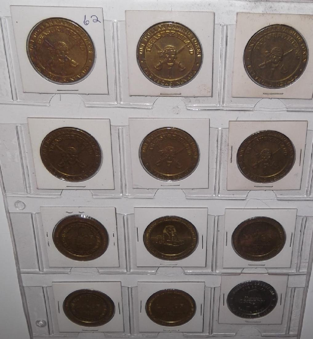 120 vintage $1 $2 casino token chips - 5