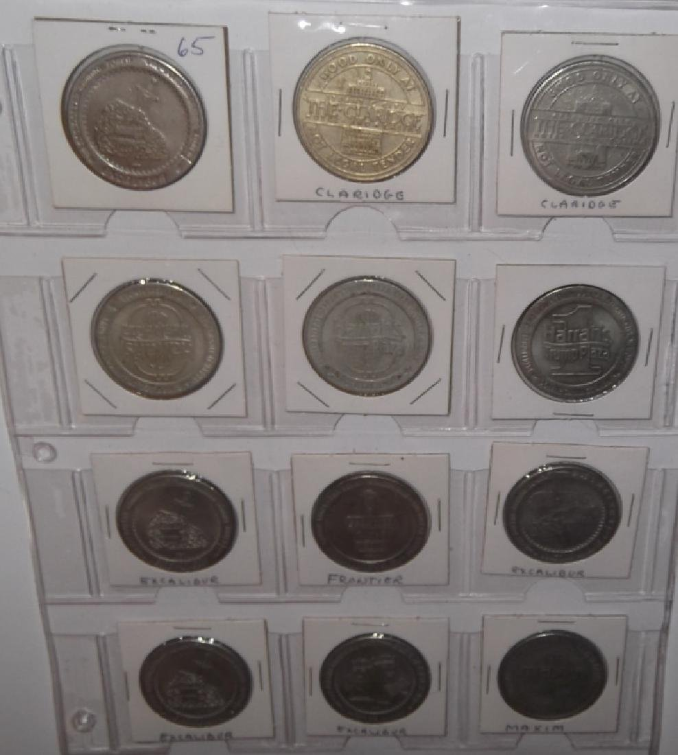 120 vintage $1 $2 casino token chips - 8