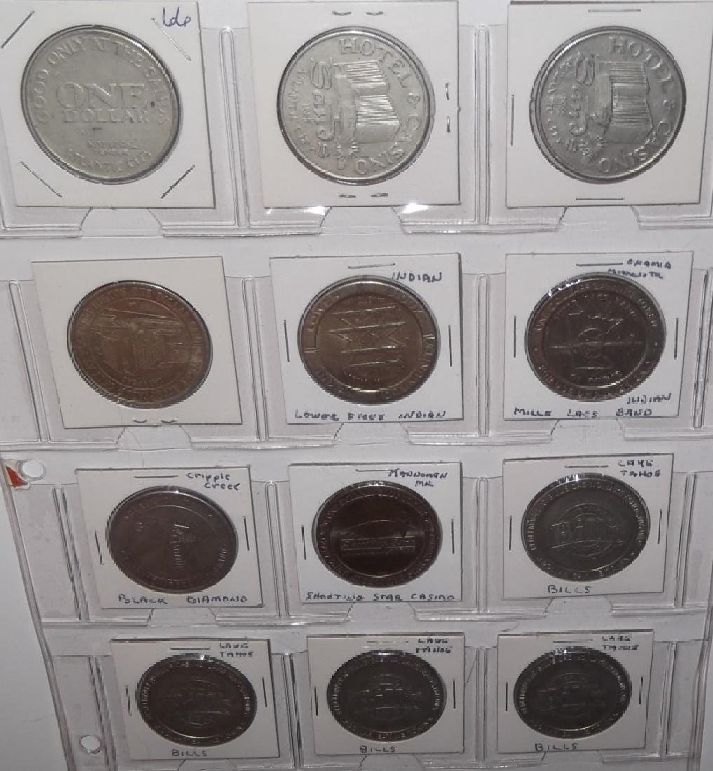 120 vintage $1 $2 casino token chips - 9