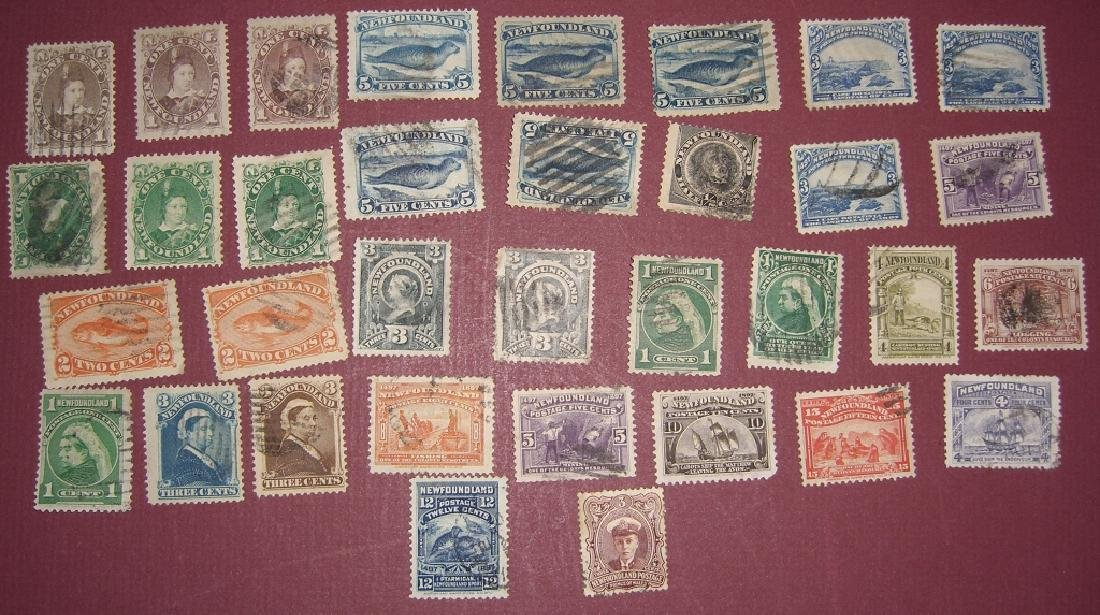 Canada 34 New Foundland stamps
