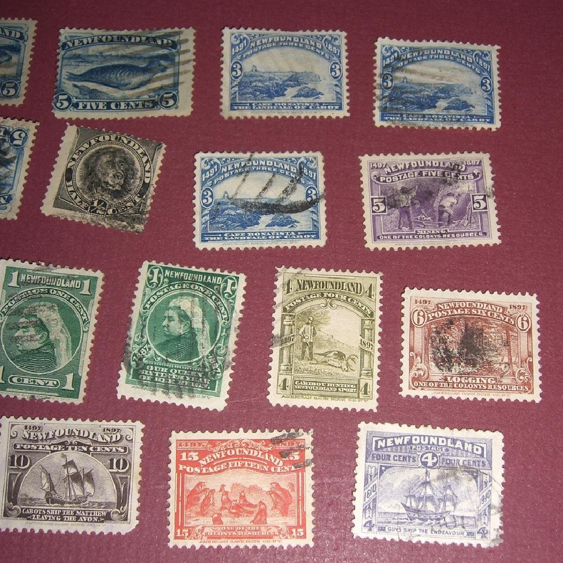 Canada 34 New Foundland stamps - 2