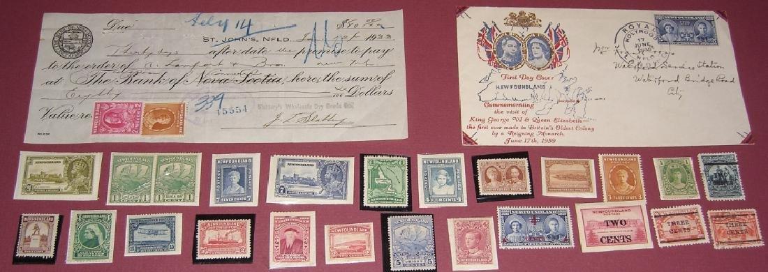 26 Canada New Foundland stamps cover receipt