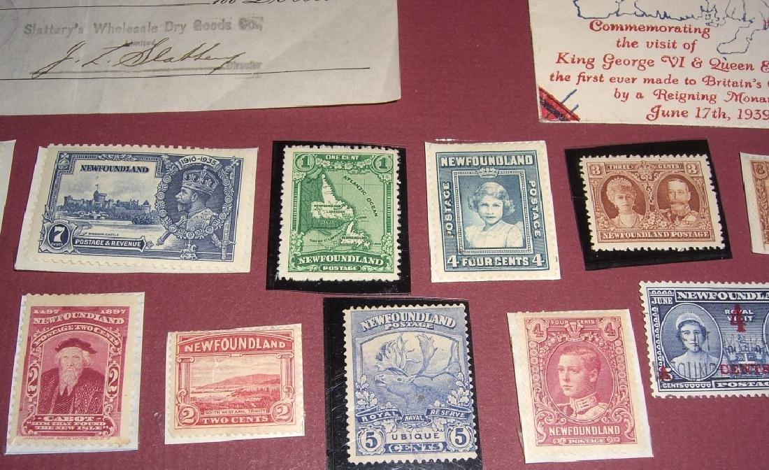 26 Canada New Foundland stamps cover receipt - 2