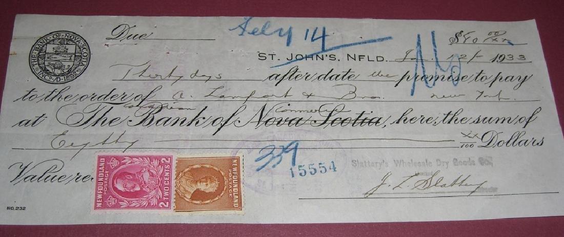 26 Canada New Foundland stamps cover receipt - 5