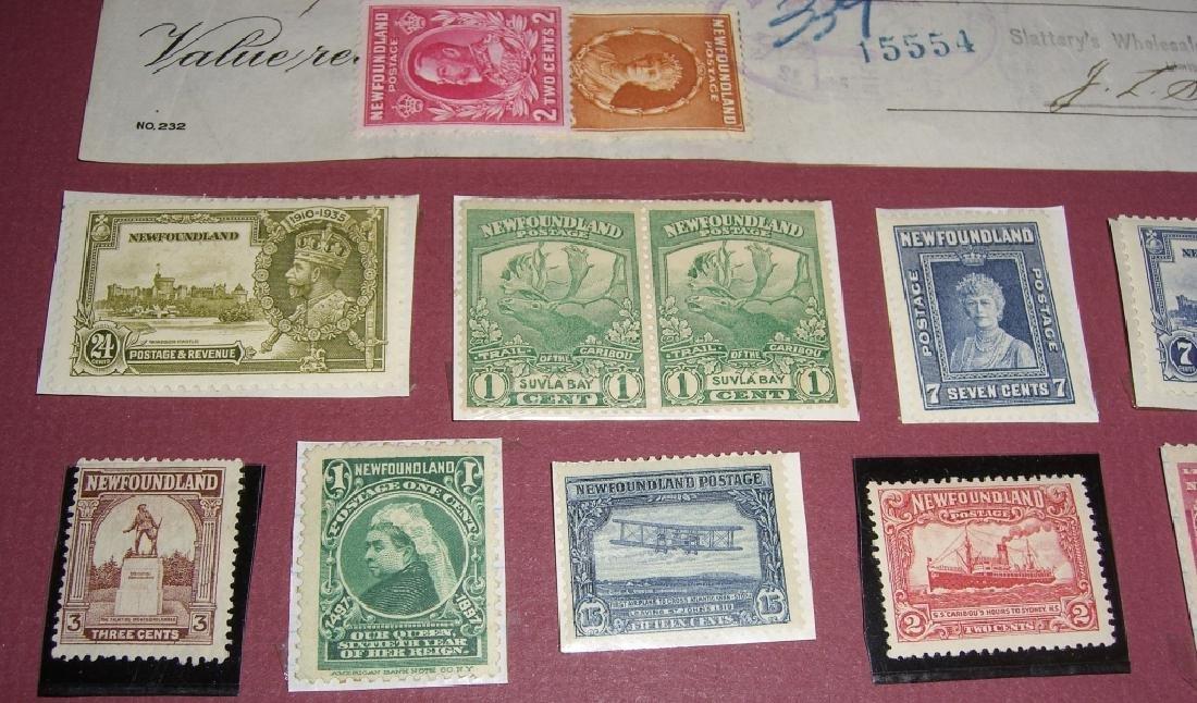 26 Canada New Foundland stamps cover receipt - 6