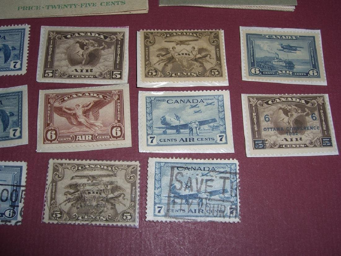 Canada 16 air post & booklet stamps - 2