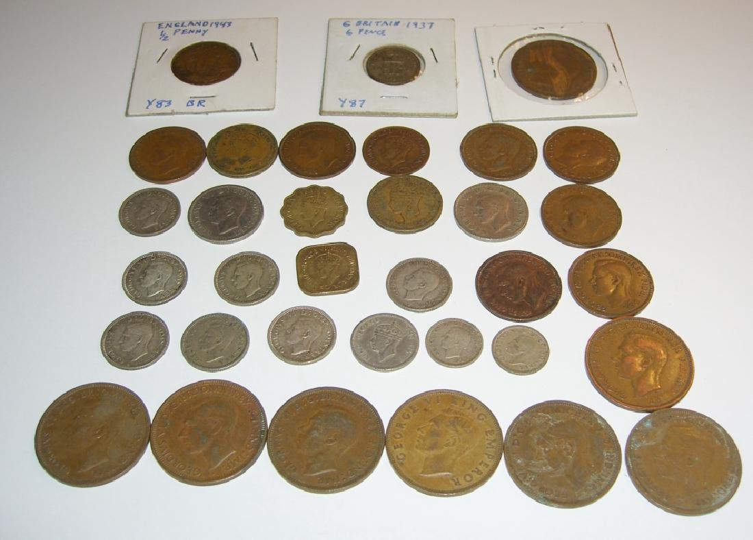 34 England or Great Britain King George VI coins