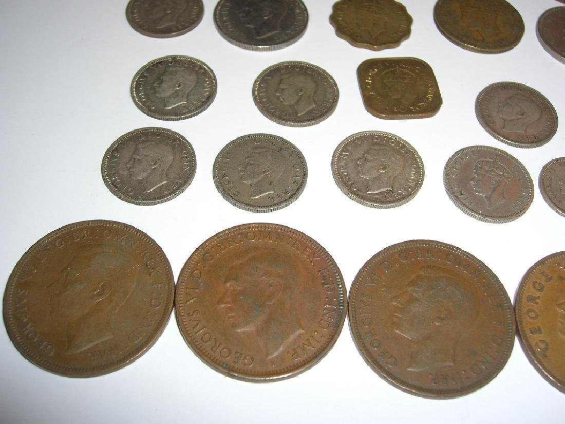 34 England or Great Britain King George VI coins - 2