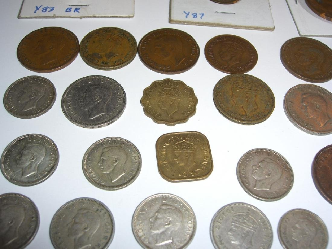34 England or Great Britain King George VI coins - 3
