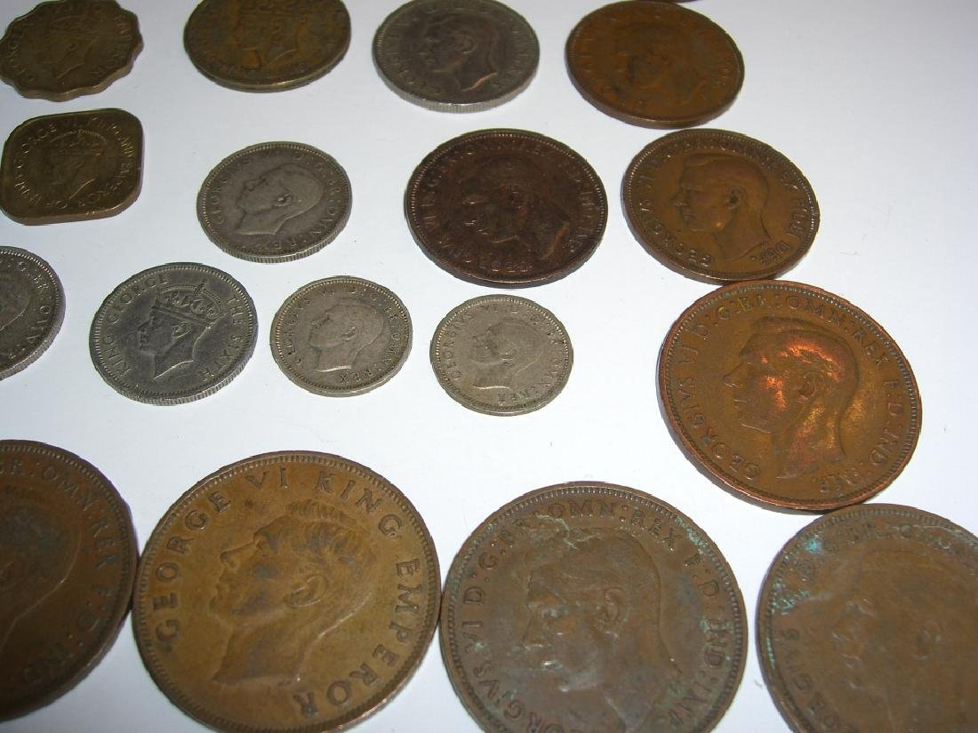 34 England or Great Britain King George VI coins - 6