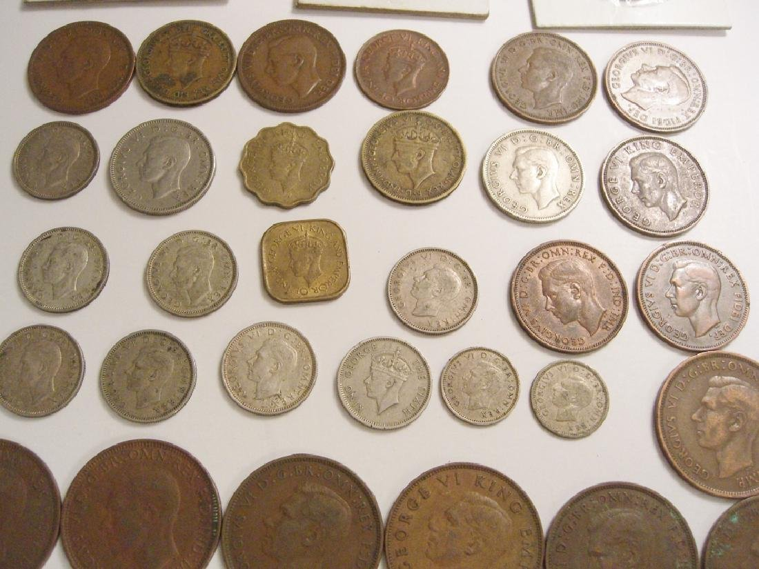 34 England or Great Britain King George VI coins - 9