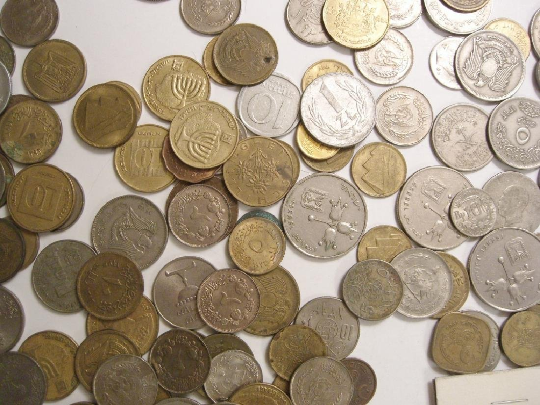 Large collection of Israel & Arabic coins - 10