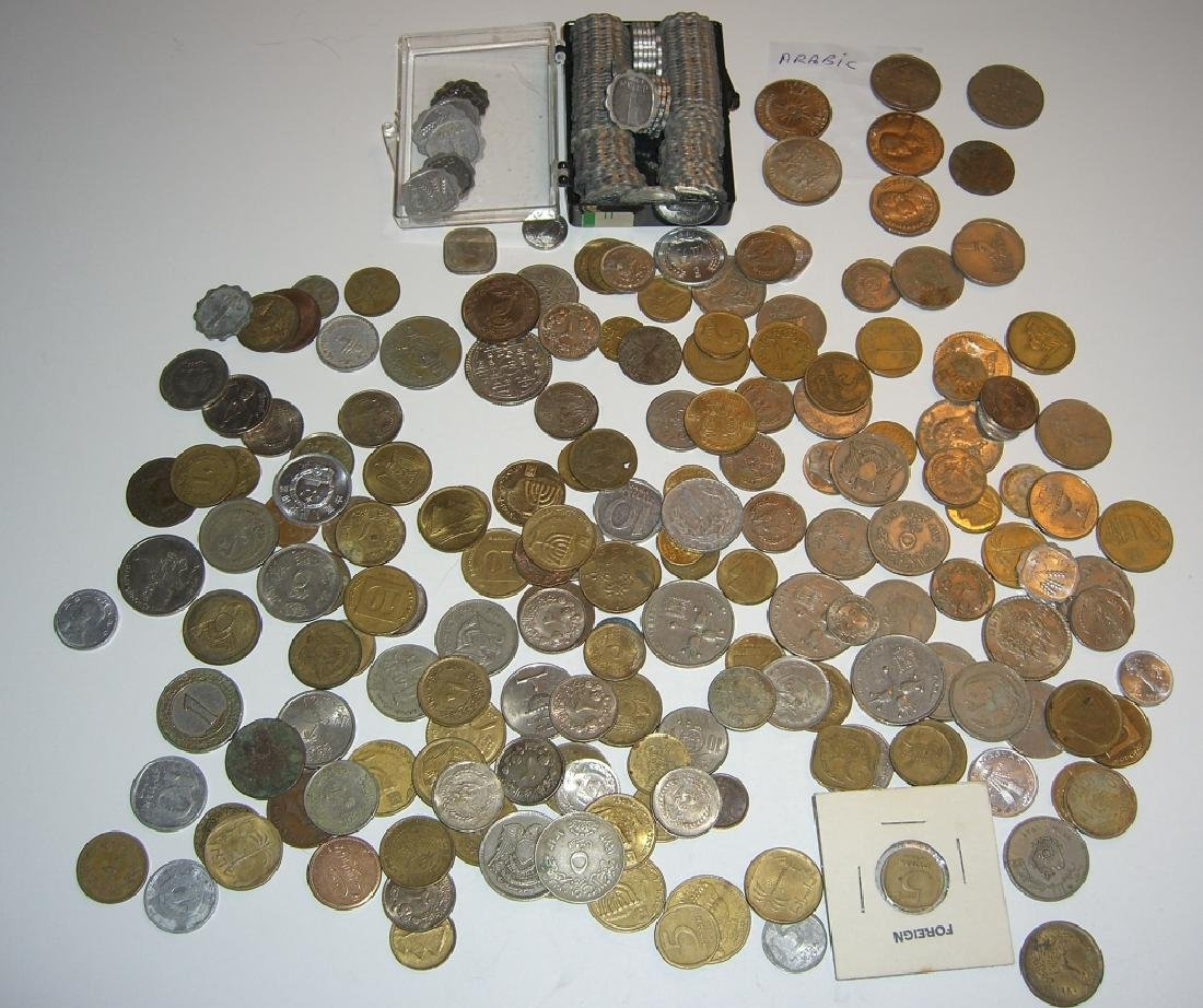 Large collection of Israel & Arabic coins