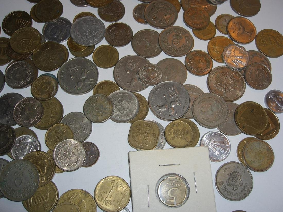 Large collection of Israel & Arabic coins - 3