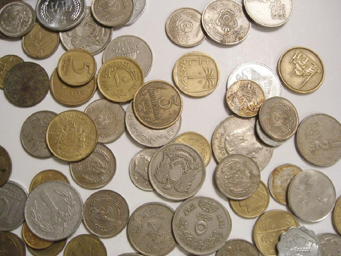 Large collection of Israel & Arabic coins - 6