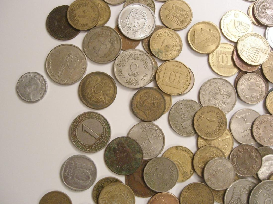 Large collection of Israel & Arabic coins - 9