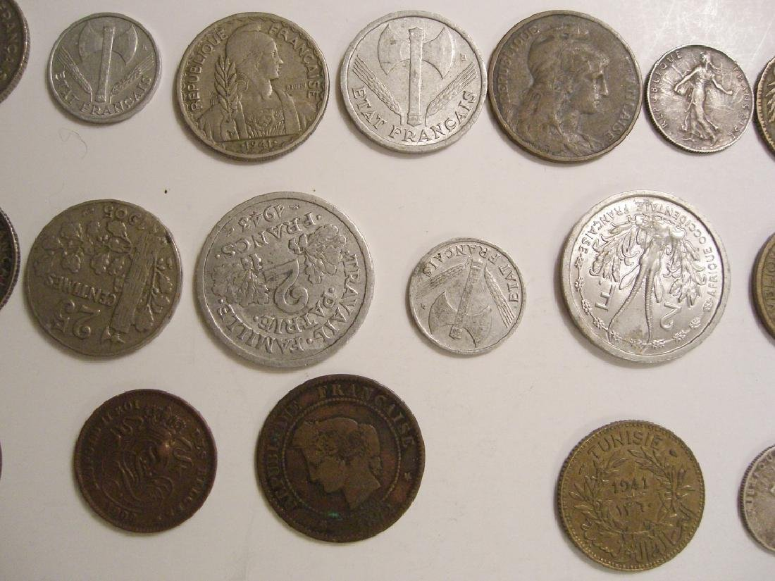 28 France/French coins - 10