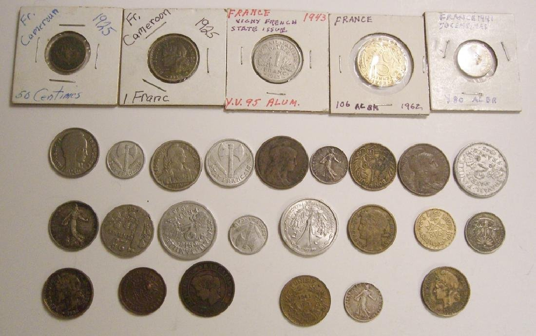 28 France/French coins