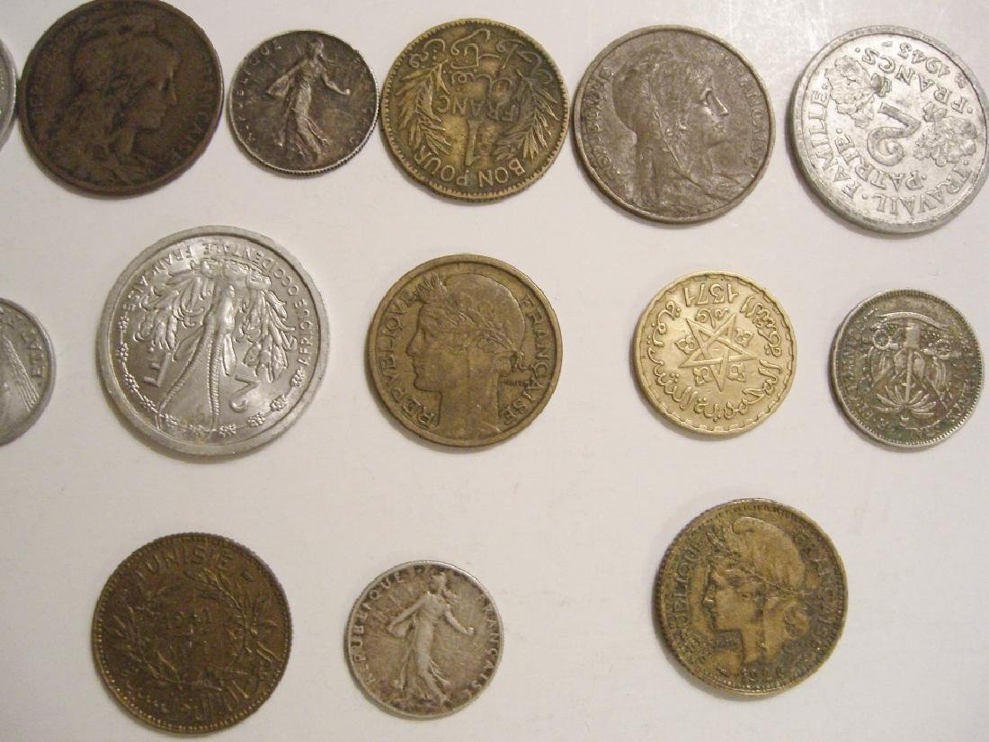 28 France/French coins - 9