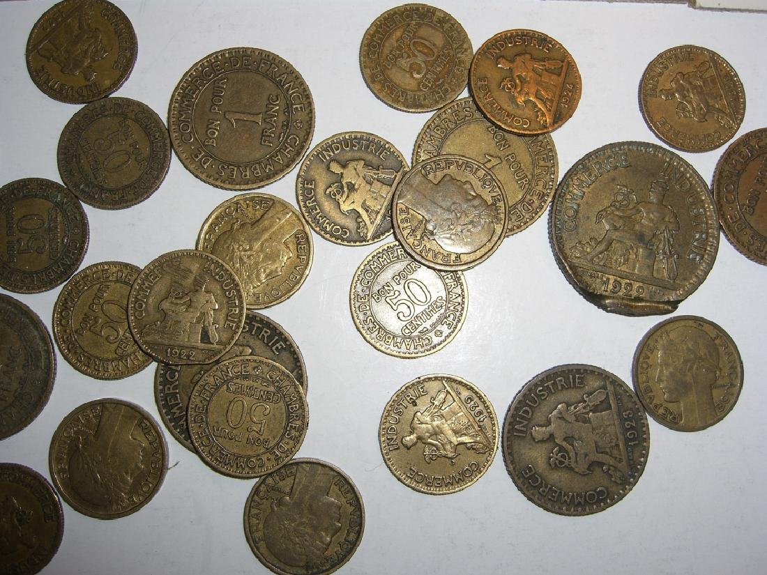 48 France/French coins - 5