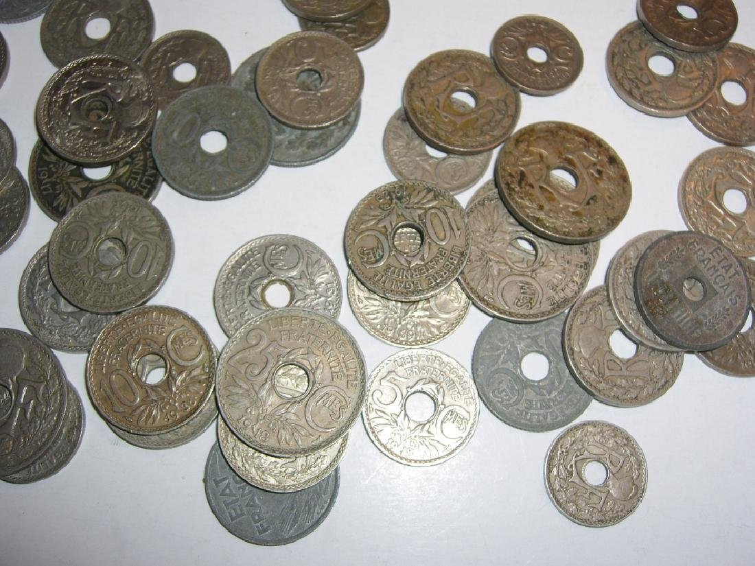 90 France/French WWI zinc coins - 3