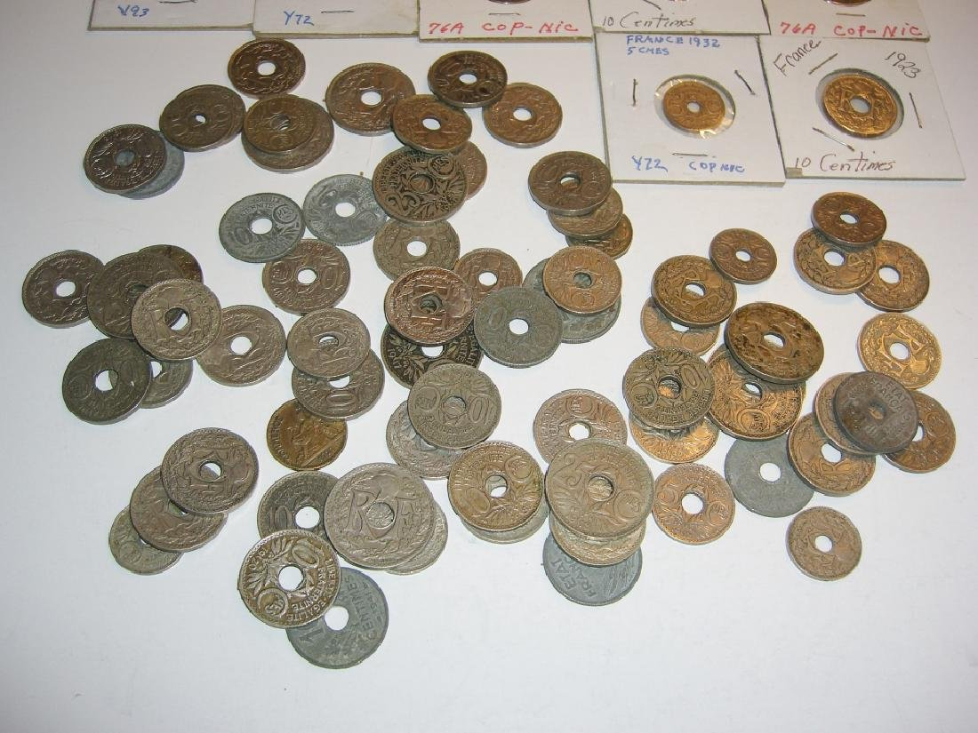 90 France/French WWI zinc coins - 4