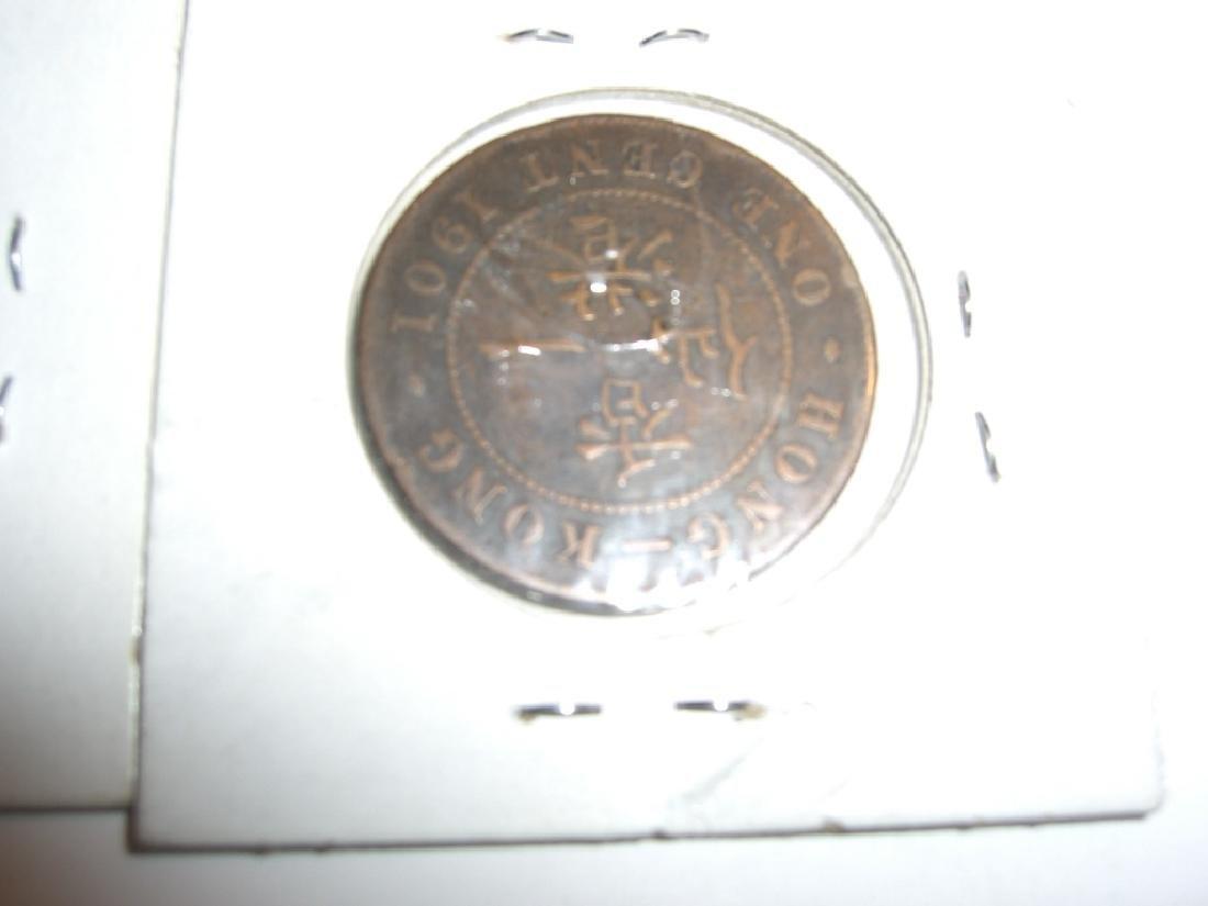 2 1901 Hong Kong coins - 2