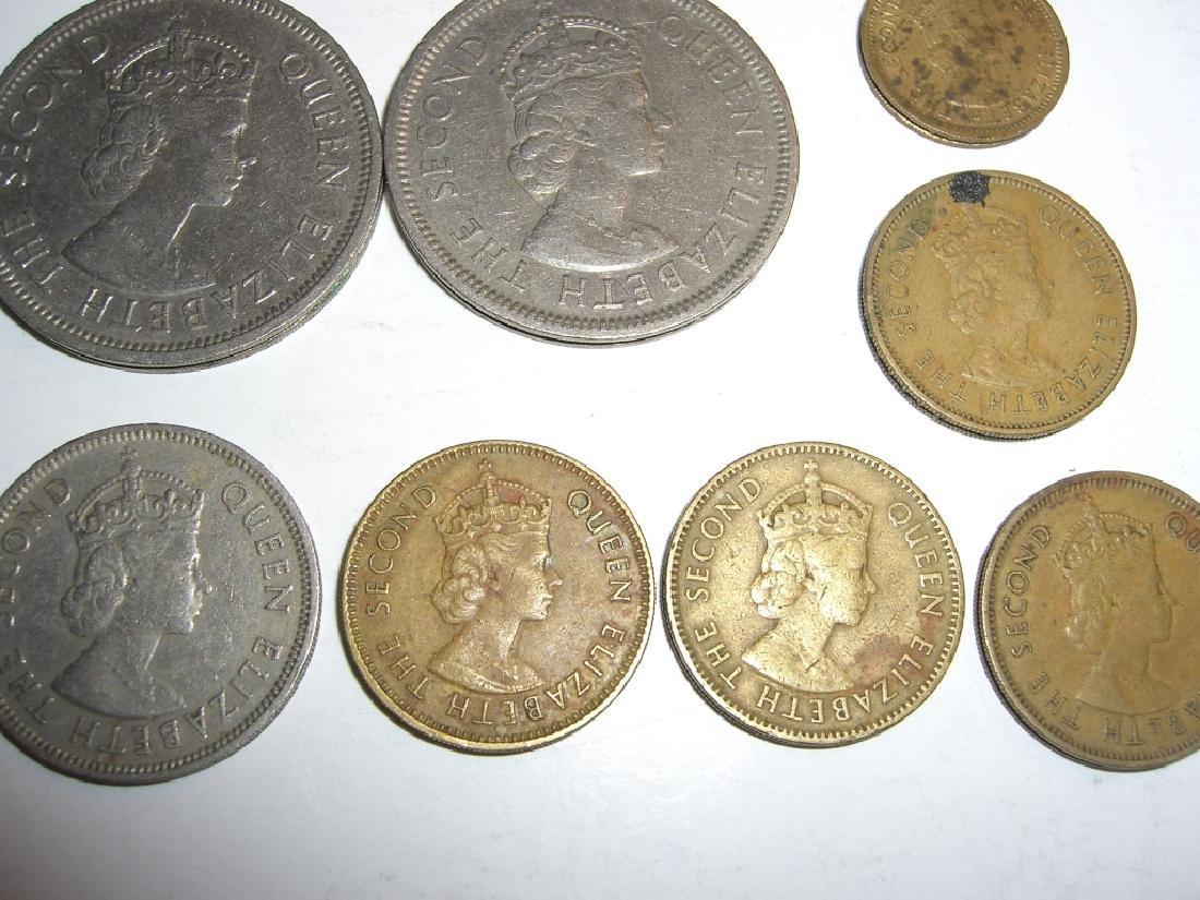 8 Hong Kong coins. - 2