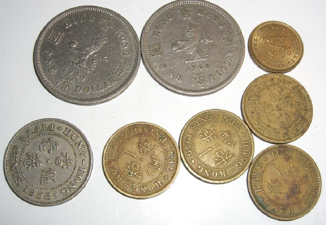 8 Hong Kong coins. - 3
