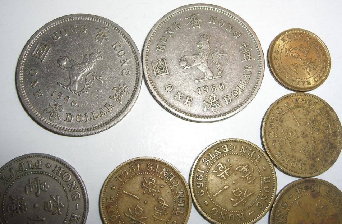 8 Hong Kong coins. - 4