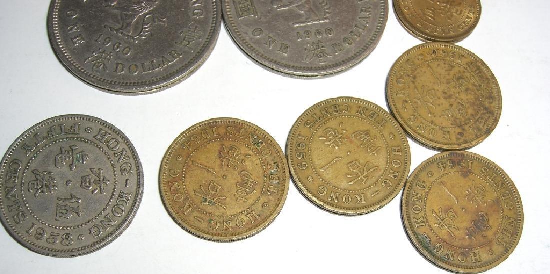 8 Hong Kong coins. - 5