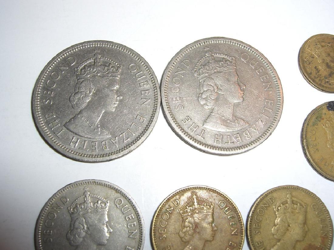 8 Hong Kong coins. - 6
