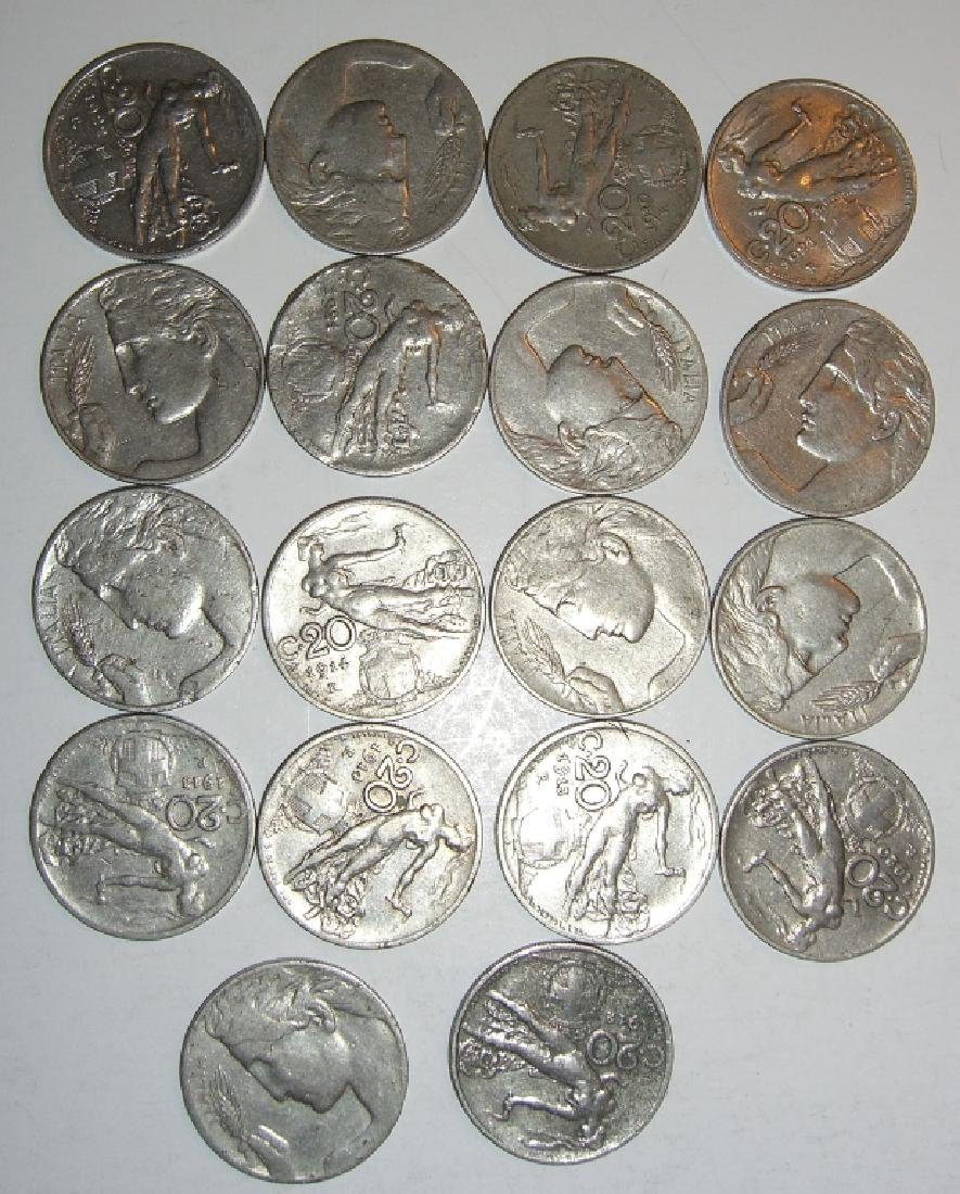 17 Italy 20 centesimi coins lot