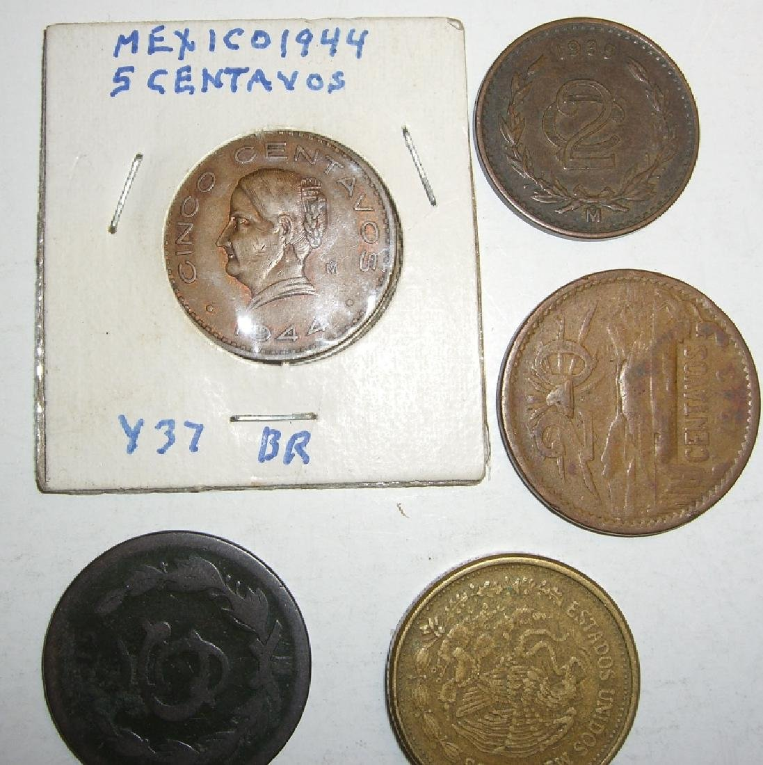 5 Mexico/Mexican mixed coins lot