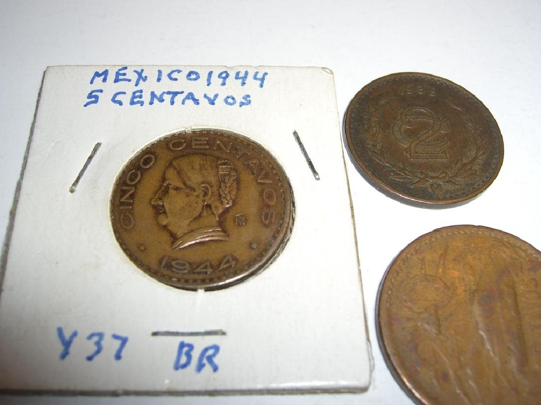 5 Mexico/Mexican mixed coins lot - 4