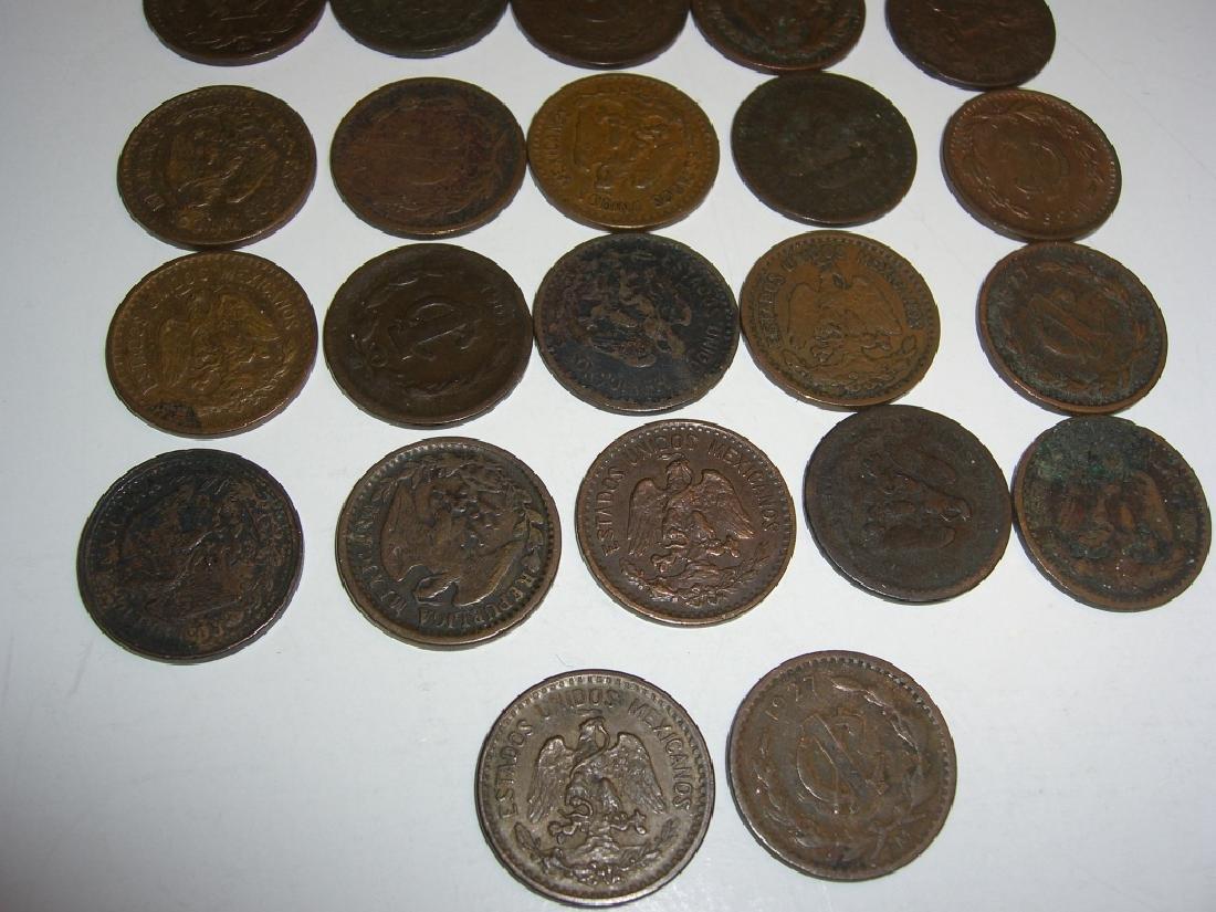 27 1903-1945 Mexico/Mexican 1 centavos coins lot - 2