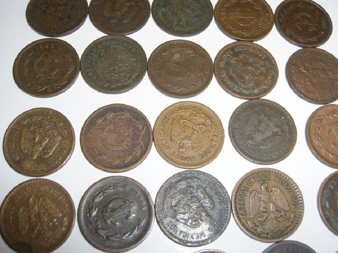 27 1903-1945 Mexico/Mexican 1 centavos coins lot - 3