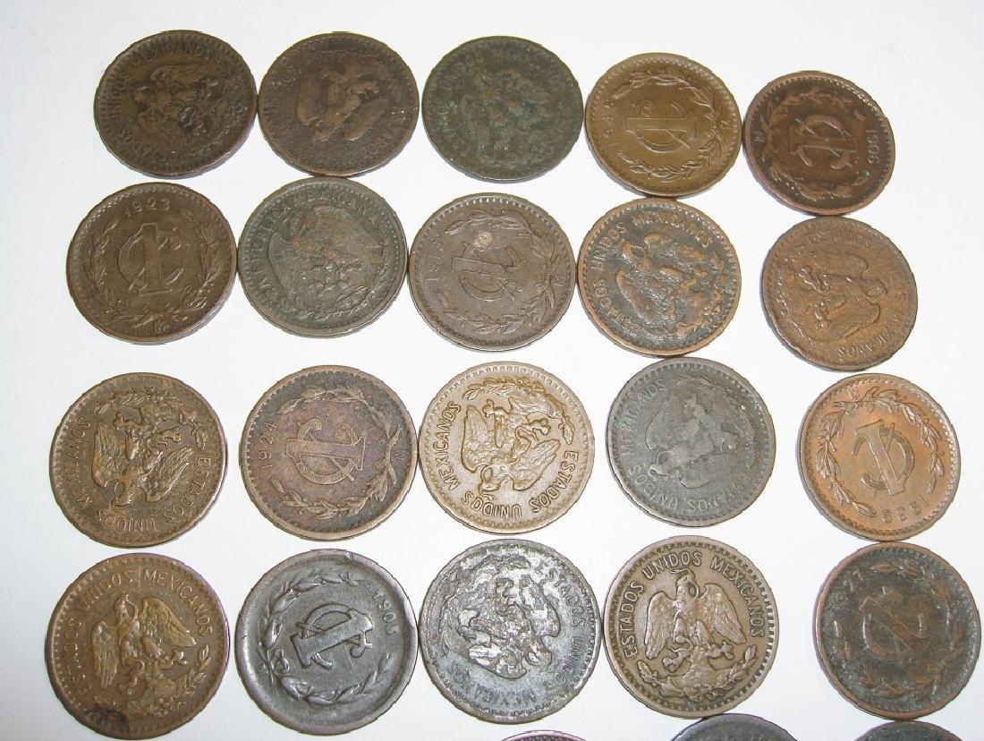 27 1903-1945 Mexico/Mexican 1 centavos coins lot - 4