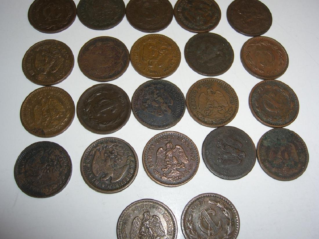 27 1903-1945 Mexico/Mexican 1 centavos coins lot - 5