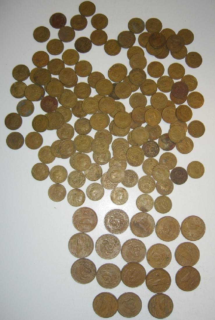 154 1956-1969 Mexico/Mexican mixed coins lot