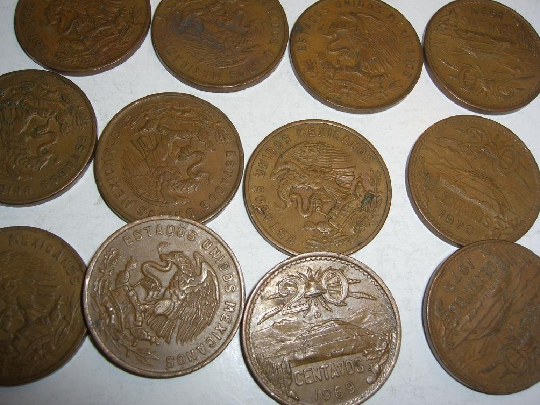 154 1956-1969 Mexico/Mexican mixed coins lot - 3
