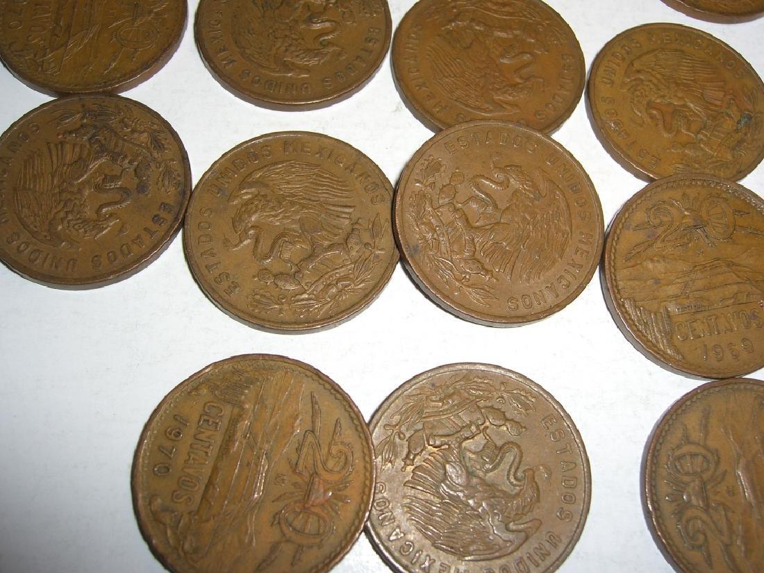 154 1956-1969 Mexico/Mexican mixed coins lot - 4