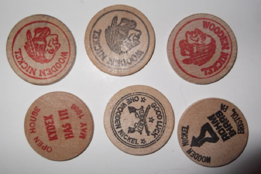 140 vintage wooden nickels - 6