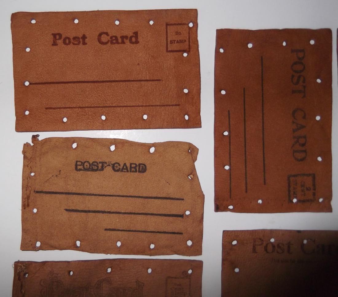 11 vintage leather postcards - 10