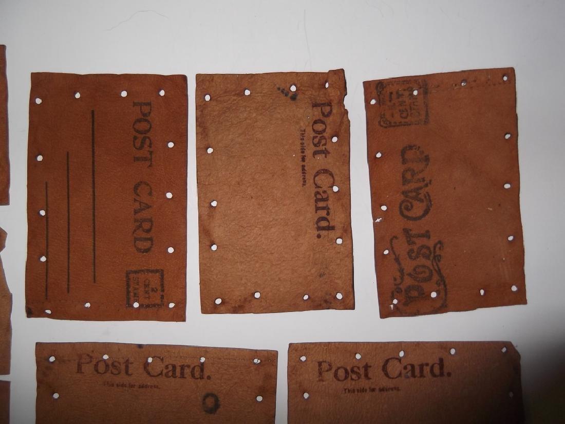 11 vintage leather postcards - 7