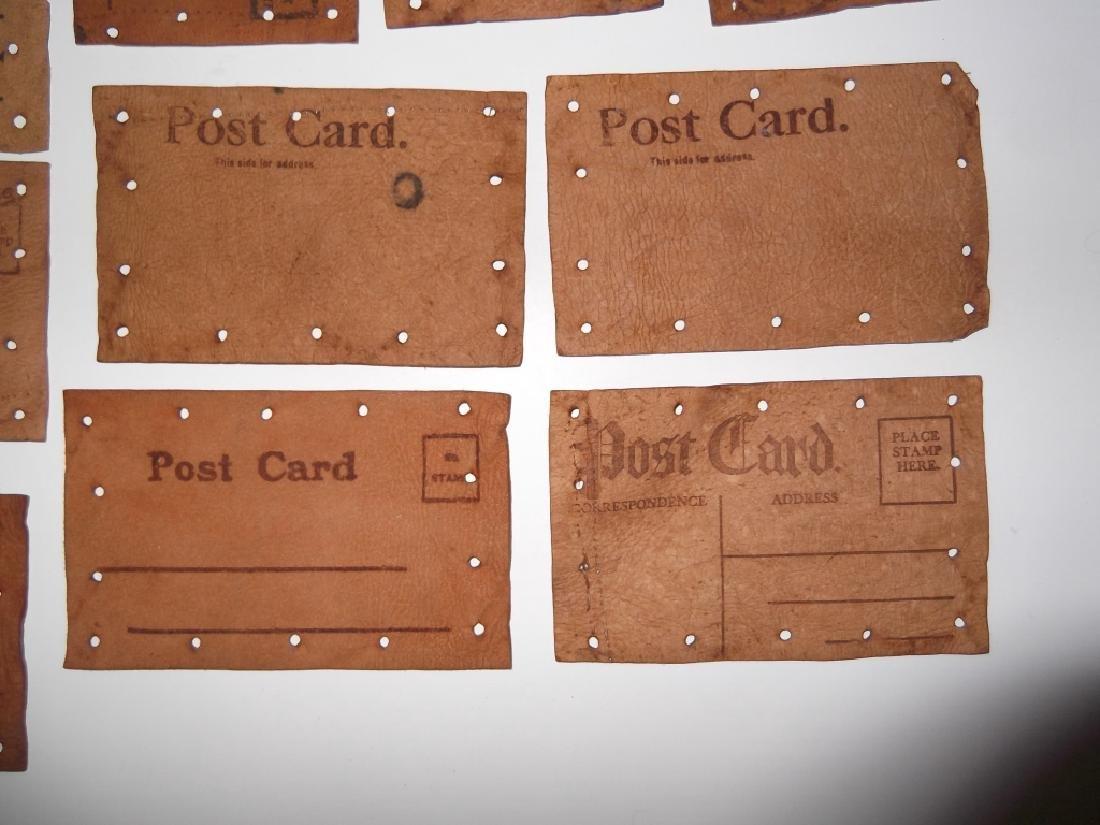 11 vintage leather postcards - 8